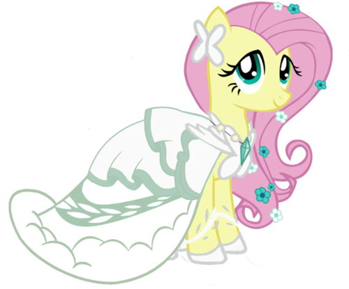 My Little Pony Friendship is Magic wallpaper entitled wedding fluttershy