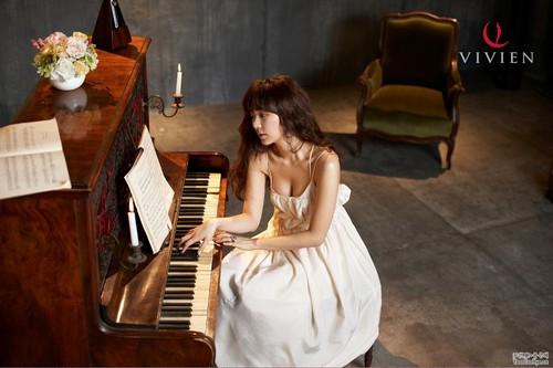 DARA 2NE1 Hintergrund with a pianist called yoon eun hye vivien underwear