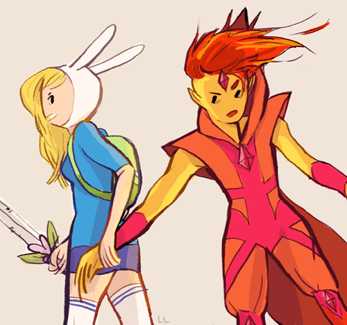 Adventure Time With Finn and Jake wallpaper called fionna and flame prince