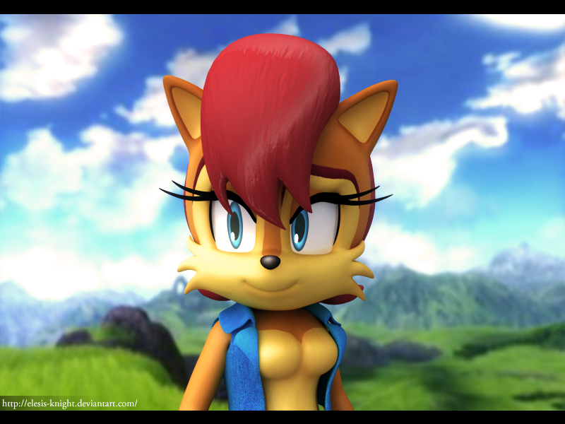 Sonic the Hedgehog 3D sally Acorn