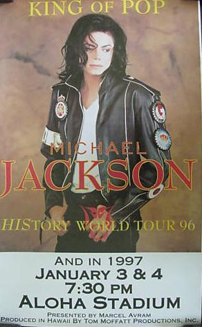 A Conert Poster Advertising Michael's Performance At Aloha Stadium Back In 1997