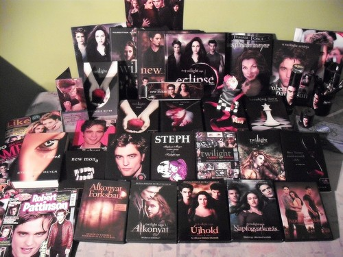 A part of my Twilight collection! ^^