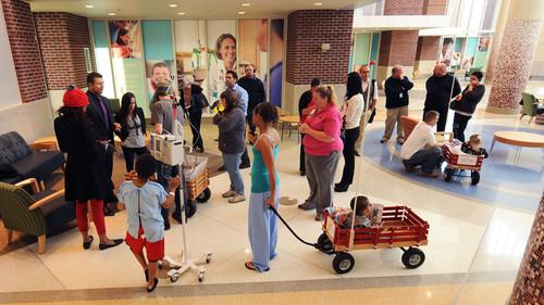 AJ Lee,Alicia Fox,The Miz Visit Riley Hospital For Children