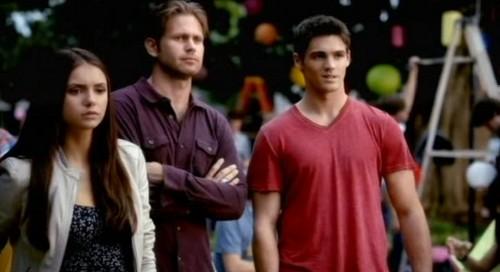 Alaric, Elena, Jeremy