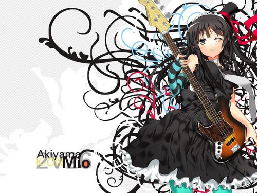 animê violão, guitarra girl