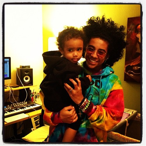 Princeton (Mindless Behavior) wolpeyper possibly with a hood and a sign entitled Awwww, Princeton is with the cute baby!!!!!! ;) :) : { ) =O XD