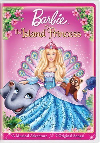 Barbie as the island princess پیپر وال entitled Barbie as the Island Princess - DVD cover