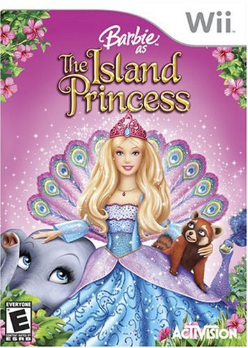 Barbie as the island princess achtergrond entitled Barbie as the Island Princess - Wii game cover