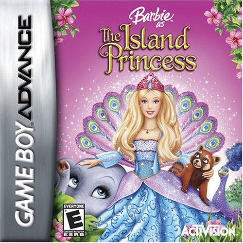 बार्बी as the Island Princess - GBA game cover