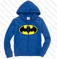 batman head logo printed on hat zip-up hoodie