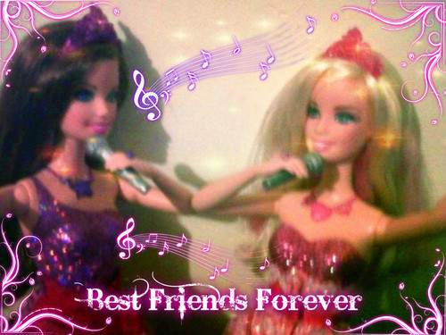 barbie la princesa y la estrella del pop fondo de pantalla possibly containing a concierto and a portrait titled Best friends Forever