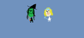 Bobblehead Glinda and Elphaba - wicked fan art