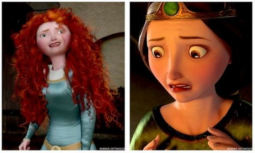 Merida and Elinor crying