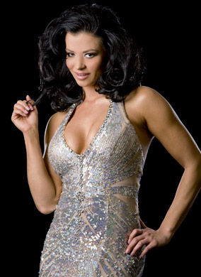 Candice Michelle پیپر وال probably with a کاک, کاکٹیل dress and a رات کے کھانے, شام کا کھانا dress entitled Candice Michelle Photoshoot Flashback