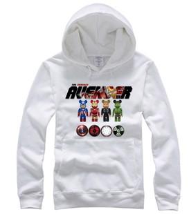 Captain America ironman hulk hình ảnh pullover hoodie