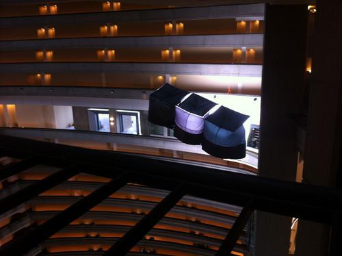 Catching api set in the interior of the Atlanta Marriott Marquis hotel