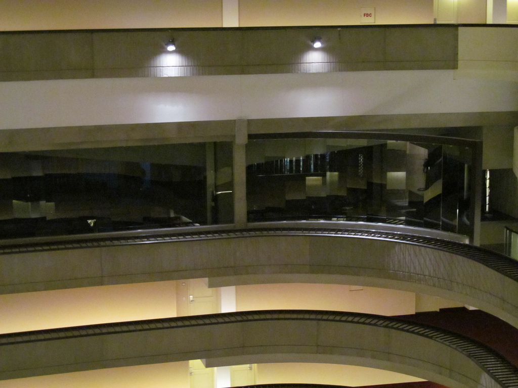 Catching Fire set in the interior of the Atlanta Marriott Marquis hotel
