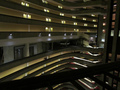 Catching огонь set in the interior of the Atlanta Marriott Marquis hotel