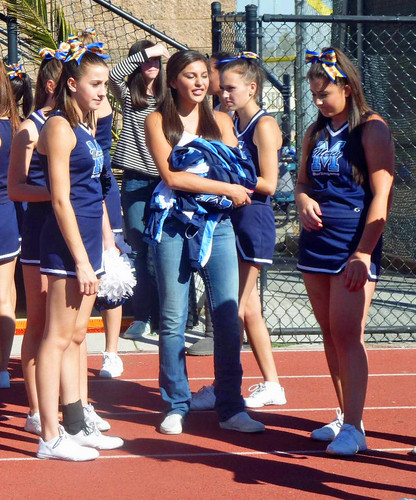 Cheerleaders waiting