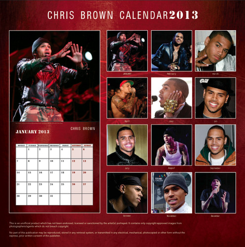 Chris Brown Exclusive Unofficial 2013 Calendar