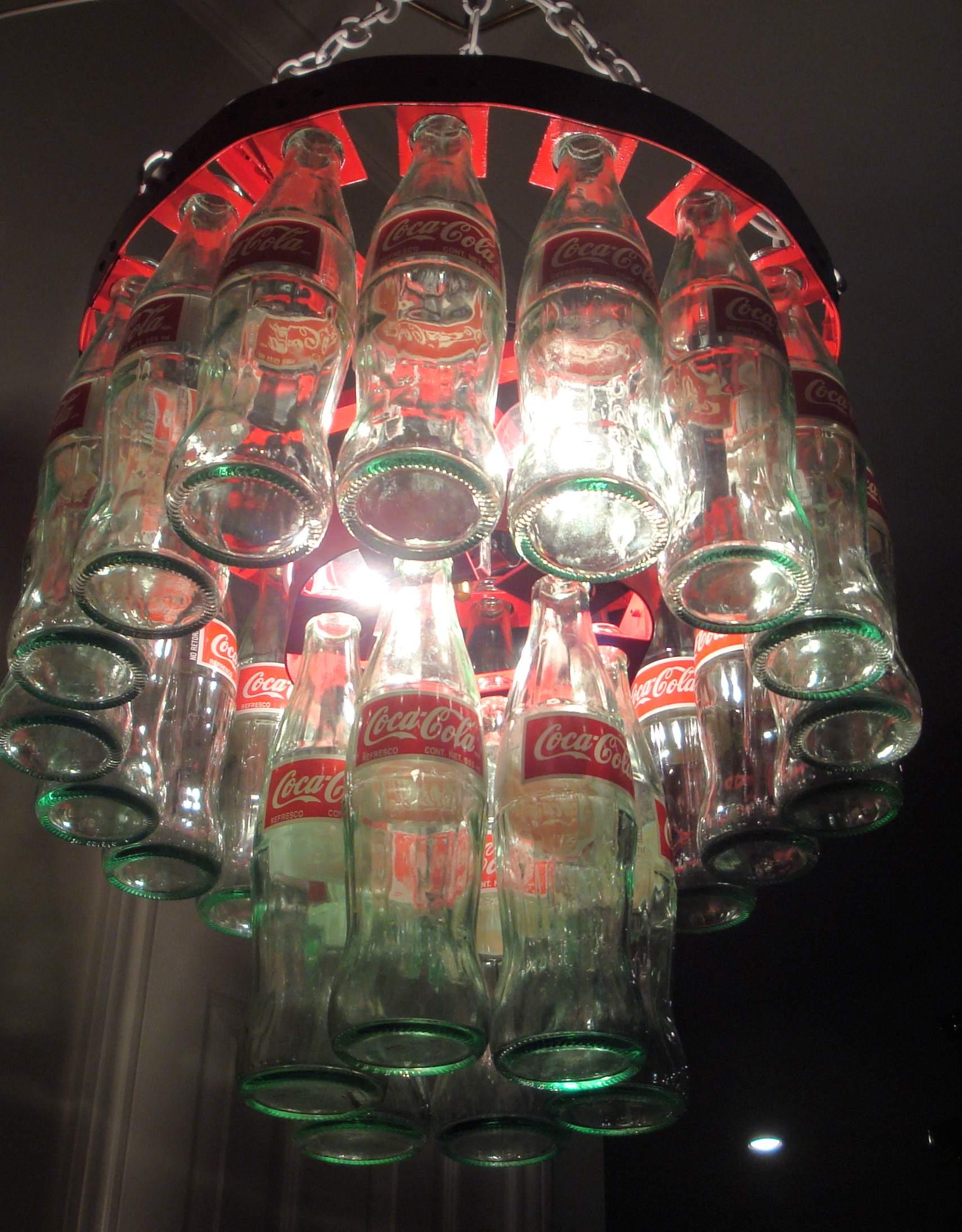 Coke bottle chandelier coke photo 32701442 fanpop for How to make a bottle chandelier