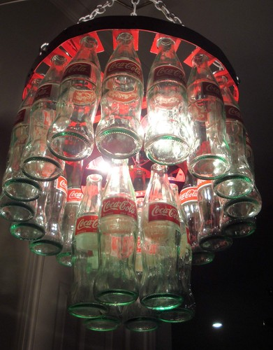 Coke wallpaper entitled Coke Bottle Chandelier
