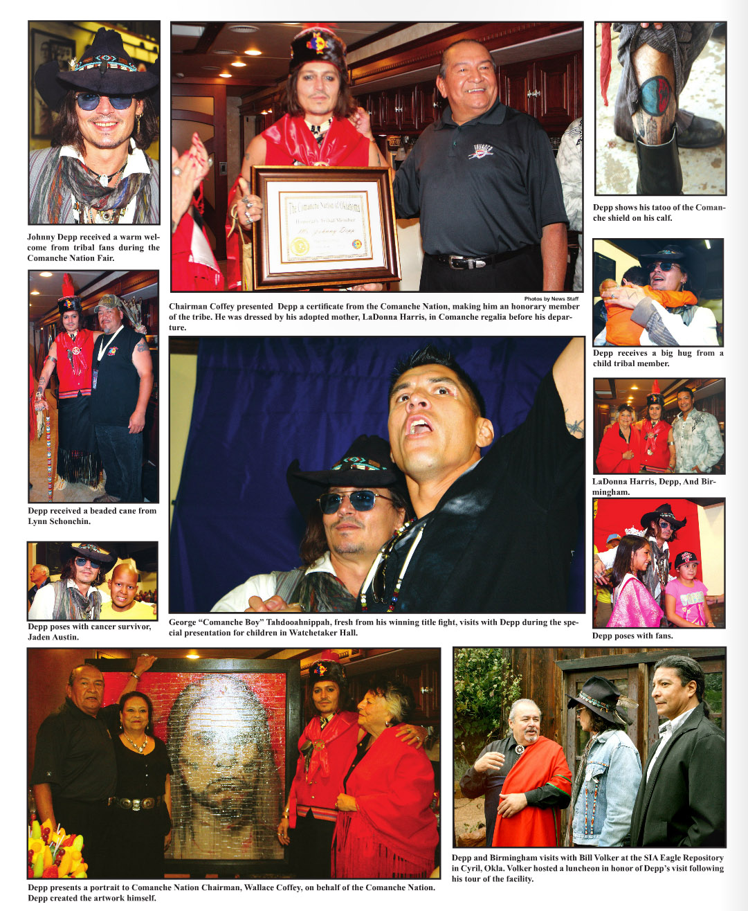 Comanche Nation News - pics and articles - Johnny Depp ... Johnny Depp/newspaper Articles