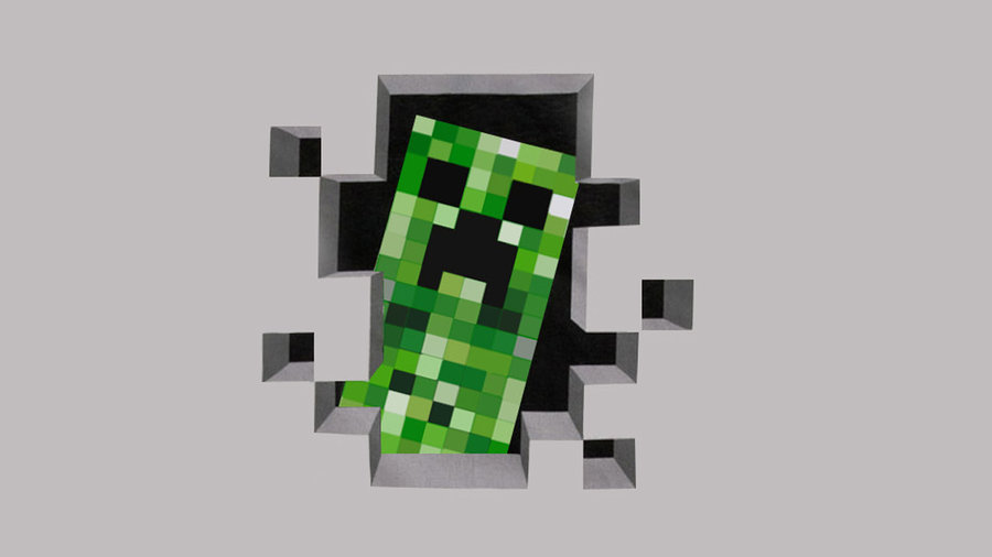 J!NX : Minecraft Creeper Premium Zip-up Hoodie - Clothing