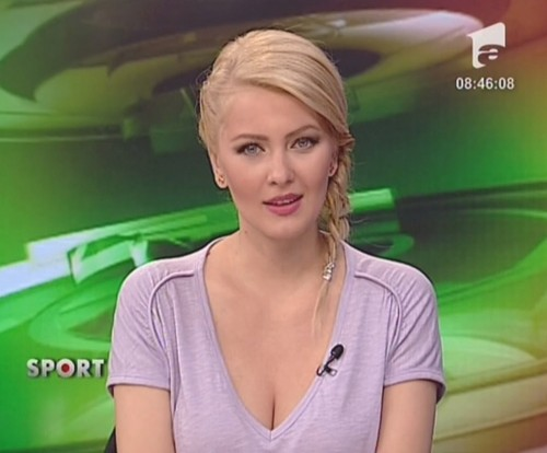 Cristina Dochianu beautiful news anchor romanian TV women people