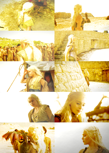 Daenerys + light yellow/white