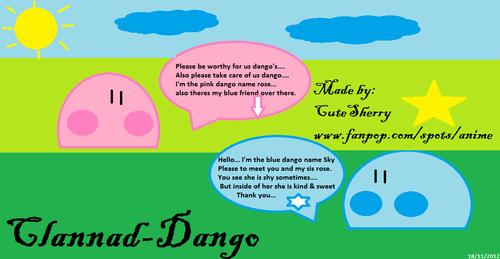 Dango sis & bro - Clannad - fan art
