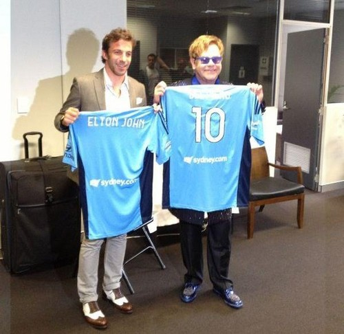 Del Piero and Elton John
