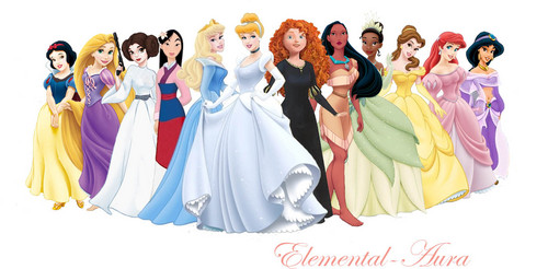 Disney Princess wallpaper possibly containing a dinner dress, a bridesmaid, and a gown entitled Disney Princesses with Leia
