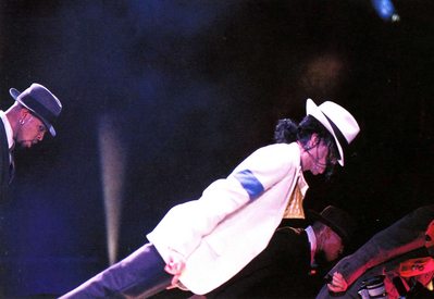 "Doing The Anti-Gravity Lean During A Live Performance Of ""Smooth Criminal"""