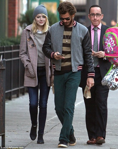 Emma and Andrew stroll through NYC, 15 November