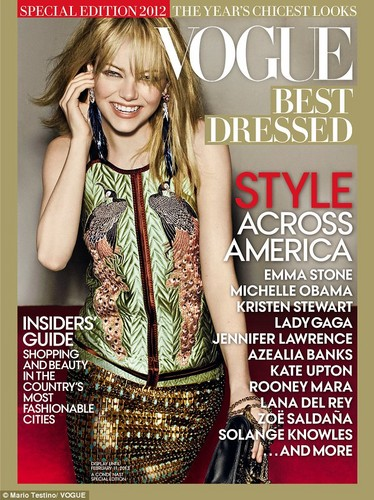 Emma lands the cover of Vogue's 2012 Best Dressed issue
