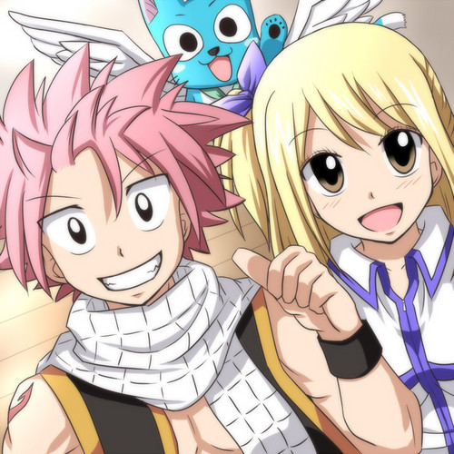 Natsu Lucy & Happy