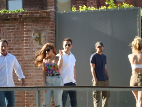 Gaga greeting অনুরাগী at her hotel in Buenos Aires