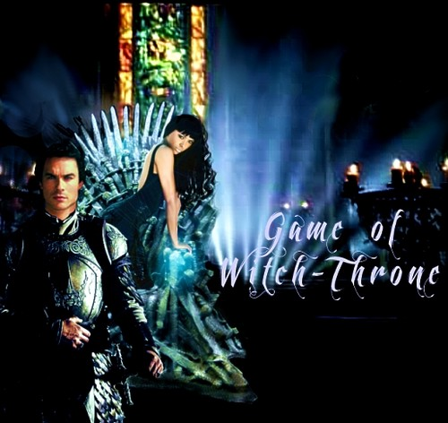 Damon & Bonnie wallpaper entitled Game of Witch Throne