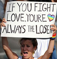 Gay Rights Protester