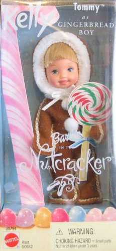 Barbie in the Nutcracker achtergrond called Gingerbread boy doll