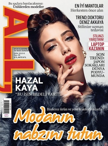 Hazal Kaya on the cover of Turkish All Magazine