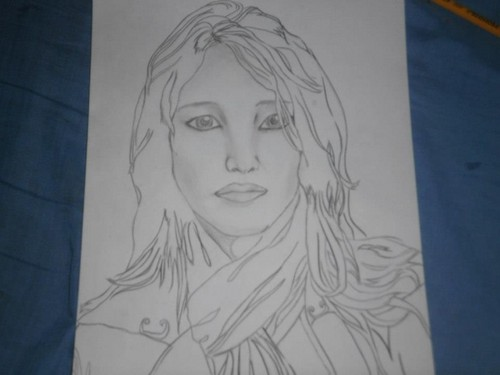 Her Drawing.... *_*