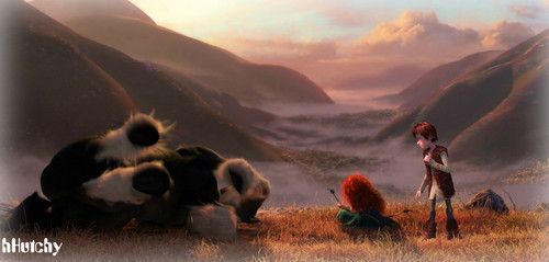Hiccup & Merida Scene