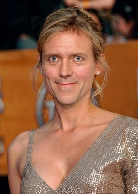 Hugh Laurie Hintergrund possibly with a chain mail and a hauberk called Hugh Laurie (Famous men turned into women)