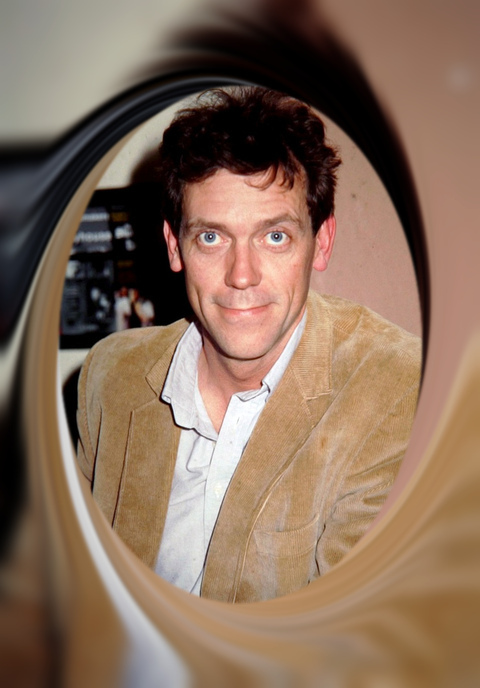Hugh Laurie backstage, Oxford Playhouse - 1994
