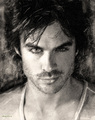 Ian Somerhalder virtual drawing B&W  - ian-somerhalder fan art