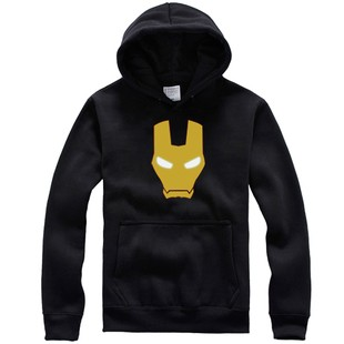 Ironman casque logo long sleeve pullover hoodie