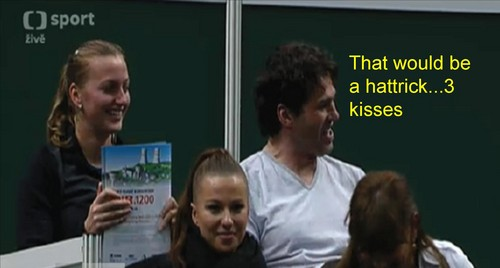 Jagr :That would be a hattrick..3 kisses