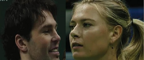 Jagr flirted with Sharapova..